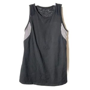 Lucy Tank Top Athletic Sports Workout Black